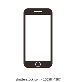 mobile phone smartphone device gadget in iphone style on the white background.