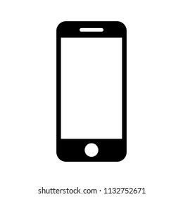 mobile phone smartphone device gadget in iphone style on the white background. telephone icon. cellphone icon