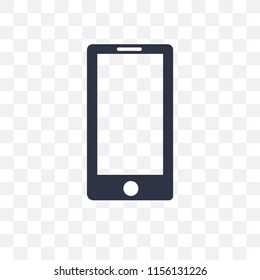 Mobile phone vector icon isolated on transparent background, Mobile phone logo concept