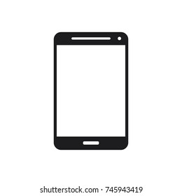 mobile phone vector icon, smart phone icon
