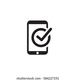 Mobile Register Icon. Online Learning. Flat Design. Isolated Illustration.