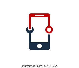 Mobile Repair Logo Design Template