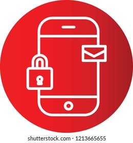 mobile security Gradient Circle Vector Icon