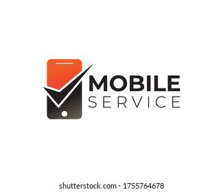 Mobile Service Logo Design, Phone logo