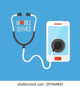 Mobile service vector illustration