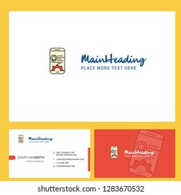 Mobile setting  Logo design with Tagline & Front and Back Busienss Card Template. Vector Creative Design
