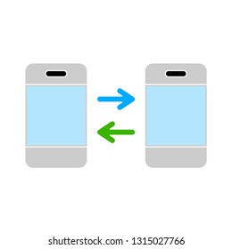 mobile sharing data icon - mobile sharing data isolated , sharing data illustration -Vector mobile