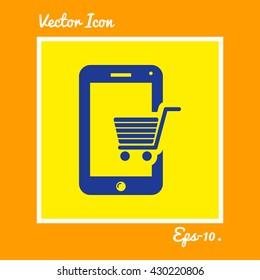 Mobile Shopping Icon. Eps-10.