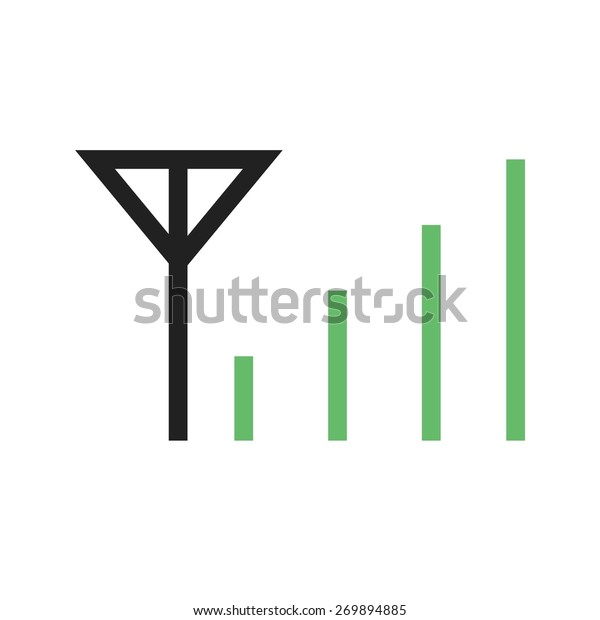 Mobile Signals Network Connection Icon Vector Stock Vector (Royalty