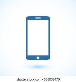 mobile smartphone icon, vector illustration. Flat design eps 10