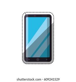 Mobile smartphone technology icon vector illustration graphic design