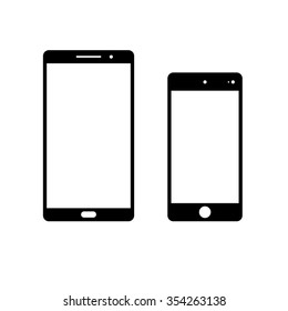 Mobile smartphone vector icon for web and mobile