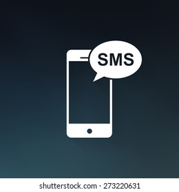Mobile sms text message mail icon - Vector