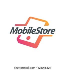 Mobile Store Accessories logo concept illustration