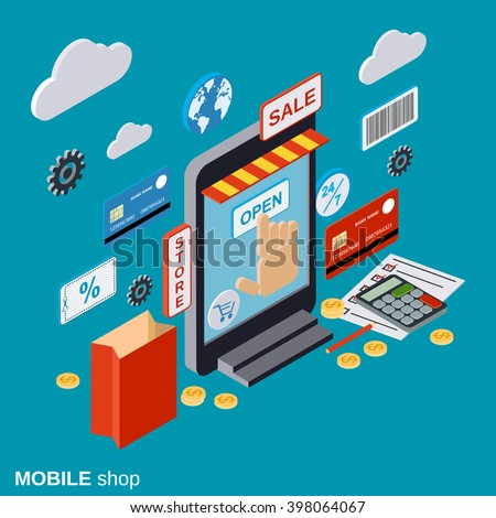 Mobile store online shopping distant trade image for Mobili store online