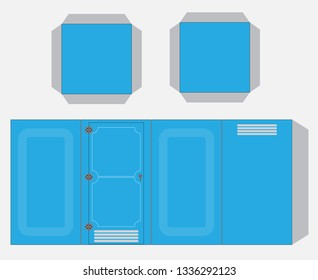 Mobile toilet Paper Model cut and glue Vector and illustration