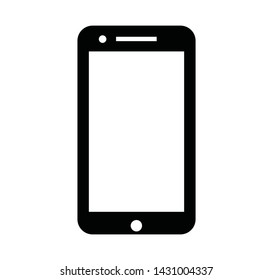 Mobile - Vector icon. Modern touch screen smartphone icon isolated on white background
