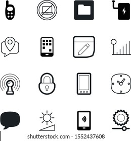 mobile vector icon set such as: safe, multimedia, payment, equipment, file, online, prohibition, security, airport, protection, template, transfer, no, organize, cartography, transmission, handphone