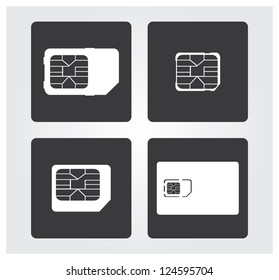 Mobile web icons: sim cards