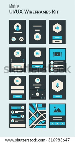 Sitemap Template   Mobile Website Application Sitemap Templates Stock Vector Royalty