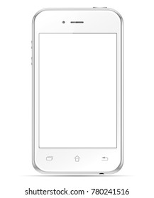 Mobile white phone. To present your application.