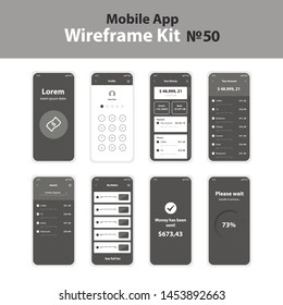 Mobile Wireframe App Ui KIt 50.