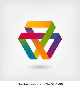 Mobius strip multi-color symbol - vector illustration. eps 10