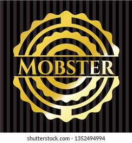 Mobster gold shiny badge
