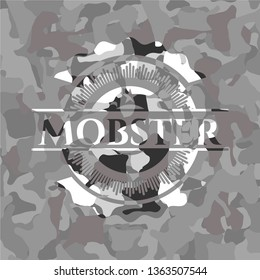 Mobster grey camouflaged emblem