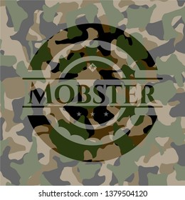 Mobster on camouflage pattern