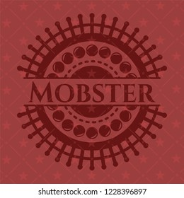 Mobster realistic red emblem