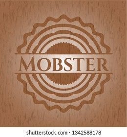 Mobster realistic wood emblem