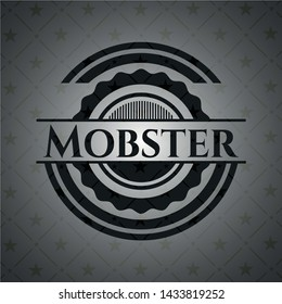 Mobster retro style black emblem. Vector Illustration. Detailed.
