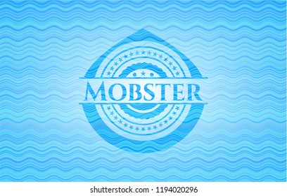 Mobster water wave badge.