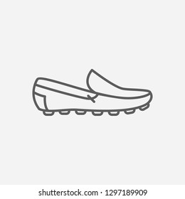 Mocassins icon line symbol. Isolated vector illustration of  icon sign concept for your web site mobile app logo UI design.