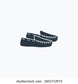 Moccasins icon isolated on clean background. Moccasins icon concept drawing in modern style. Vector illustration for your web mobile logo app UI design.