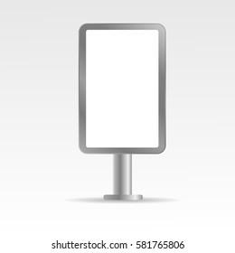 Mock up empty metall bilboard vector illustration eps 10
