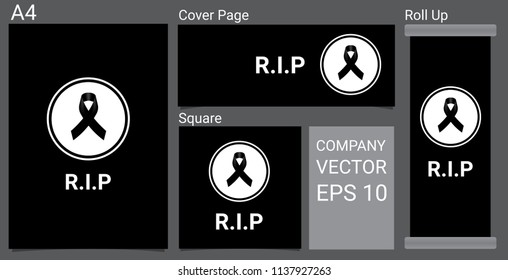 black ribbon for rip images stock photos vectors shutterstock