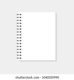 Mock up paper notebook