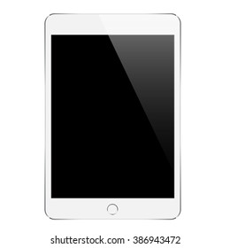 mock up white tablet similar to ipades isolated on white vector design