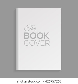 Mockup of blank white book cover. Realistic Textbook, booklet, notepad or notebook for your design and branding