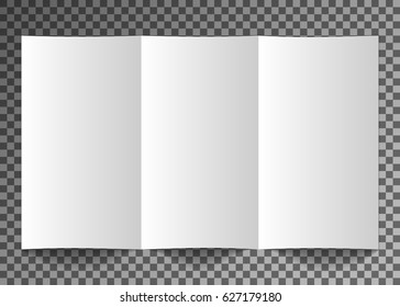Mockup booklet, postcard, flyer, trifold or brochure template. Good for business presentations and advertisements on transparent background.