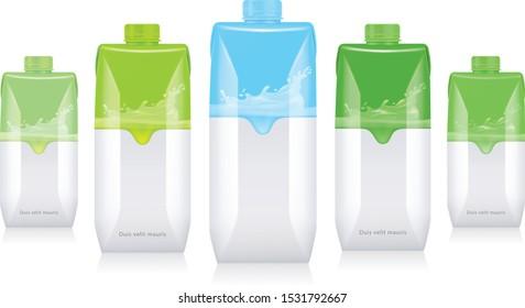 Mockup for carton packaging drinks.
