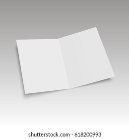 Mockup magazine with soft shadows  . Template of Brochure, Booklet. Vector illustration