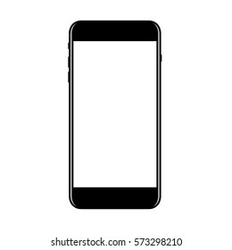 mock-up new phone vector black isolated