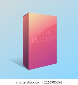 Mockup Pink Box with gradients