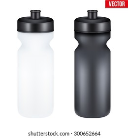 Mockup Plastic Sport Nutrition Drink Bottle for fitness. Whey Protein and Gainer. Vector Illustration isolated on white background