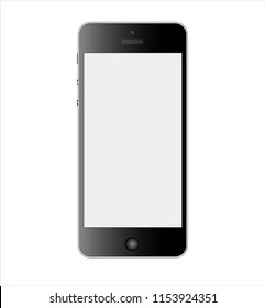 Mockup of a smarphone with a 16:9 screen aspect ratio. Can be used as a template for your design. Vector illustration.