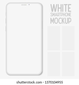 Mockup smartphone with blank screen isolated on white background. Mockup to showcasing mobile web-site design or screenshots your applications. Vector illustration