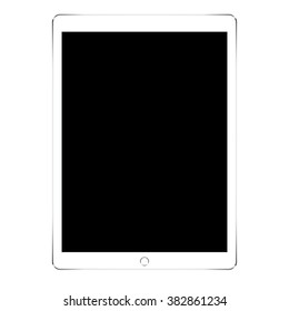 mockup tablet in ipades style isolated on white background